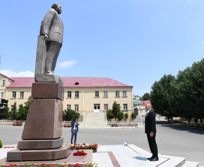 Президент Ильхам Алиев прибыл в Дашкесанский район