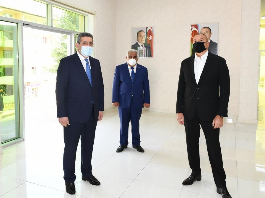 Президент Ильхам Алиев ознакомился с работами по реконструкции систем водоснабжения и канализации в Дашкесане