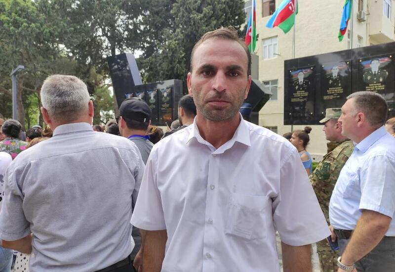 Брат Полада Гашимова выразил признательность за вклад в создание парка имени генерала-шехида