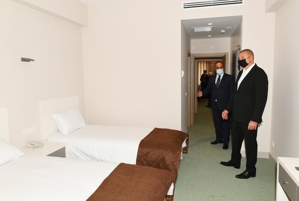 Президент Ильхам Алиев принял участие в открытии Геранбойского олимпийского спорткомплекса