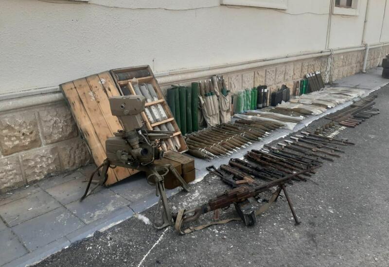 В Физули обнаружено большое количество брошенного армянами оружия