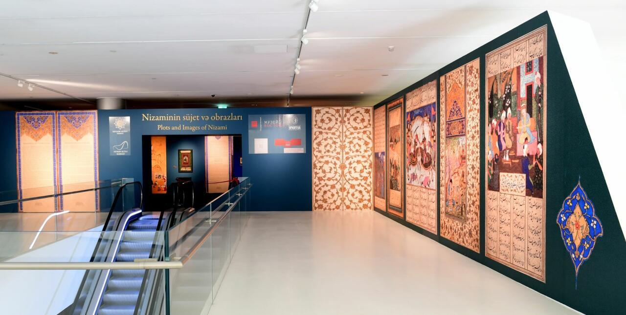 В Центре Гейдара Алиева открылась выставка «Сюжеты и образы Низами»