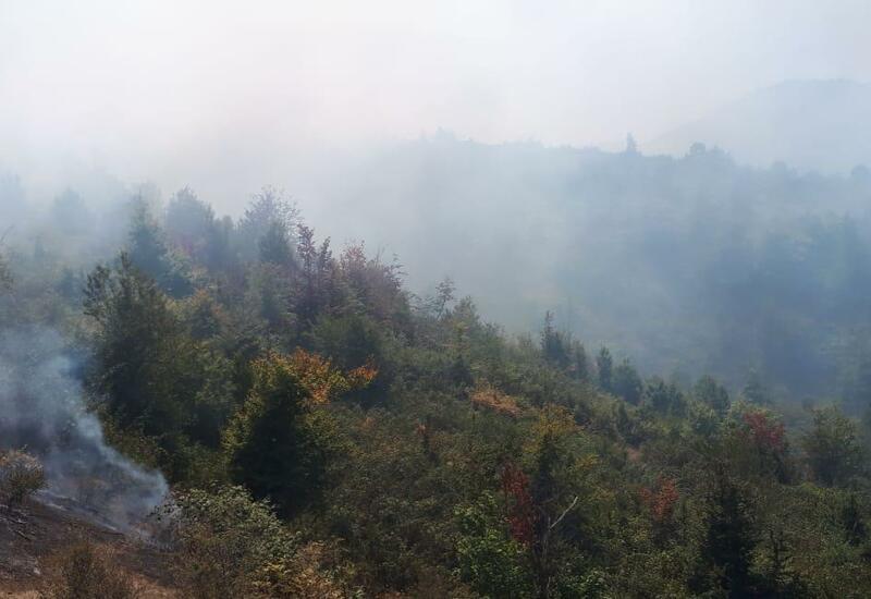 Пожар на заминированной армянами территории в Ходжавенде потушен