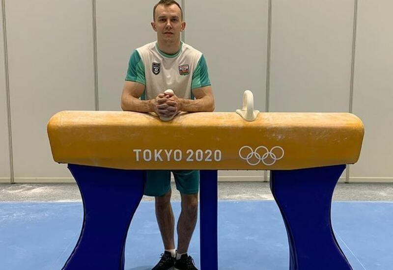 Азербайджанский спортсмен продемонстрировал выступление на гимнастическом коне в рамках соревнований на Олимпиаде в Токио