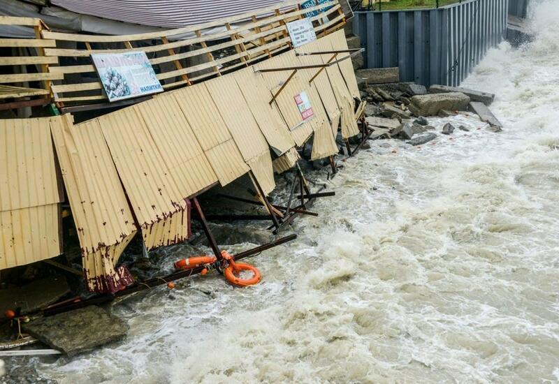 Видео последствий мощного наводнения в Сочи