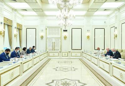 Сахиба Гафарова на переговорах с докладчиком ПАСЕ Полом Гаваном - ФОТО