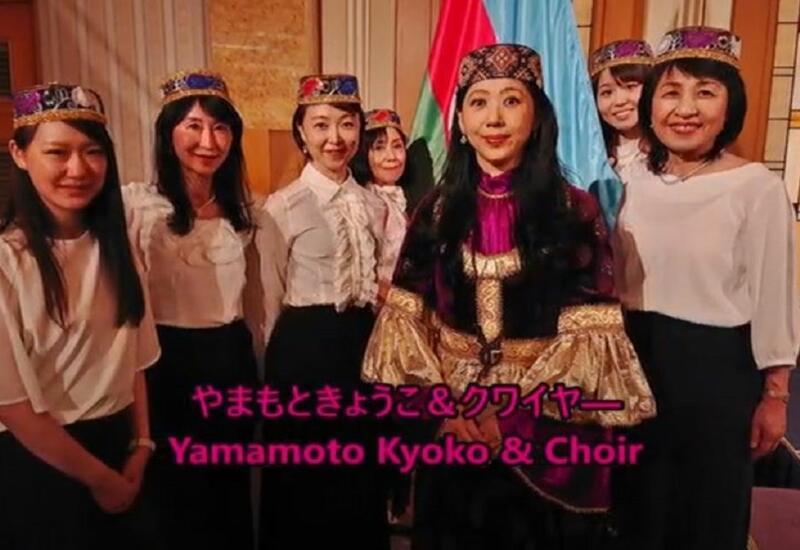 Японка исполнила гимн Азербайджана в поддержку спортсменов на Олимпиаде