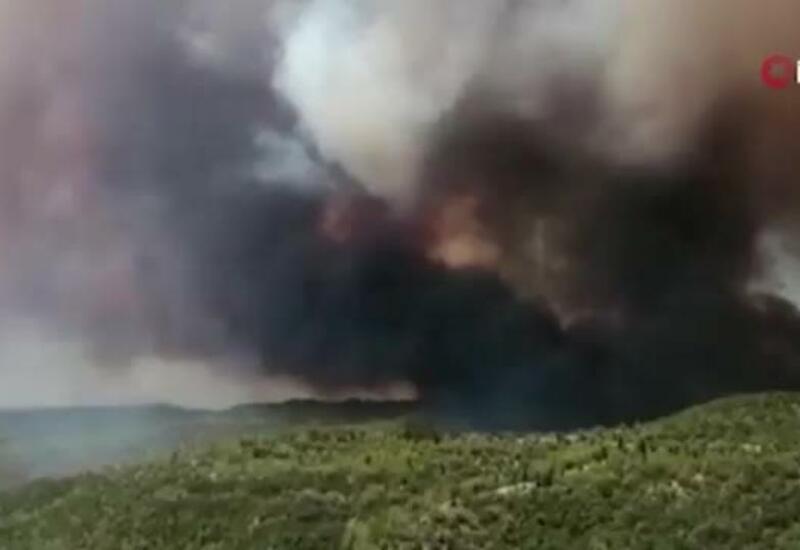 Возгорание мусора привело к крупному пожару в Турции