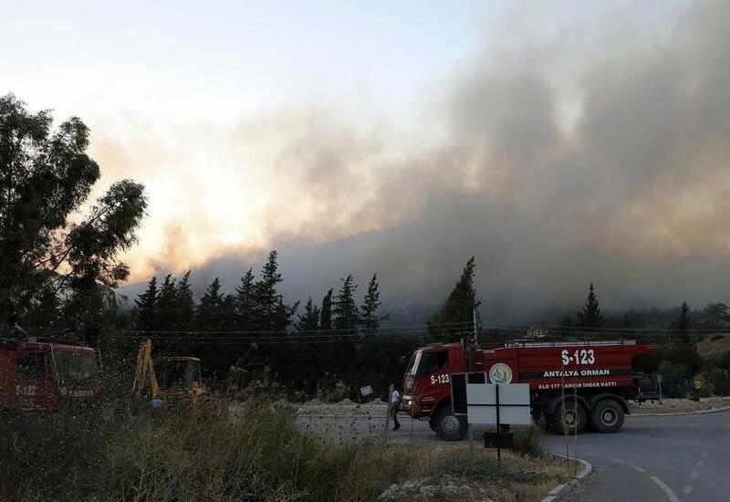 В результате пожара в Анталье пострадали 53 человека