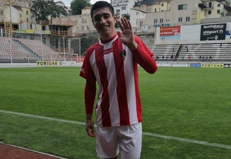 Азербайджанский футболист забил гол в Чехии на 40-й секунде