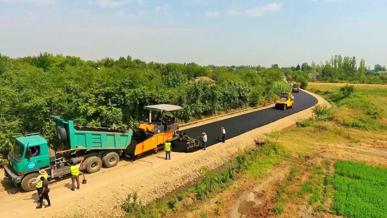 В Тертерe завершается реконструкция автодороги, соединяющей 5 населенных пунктов