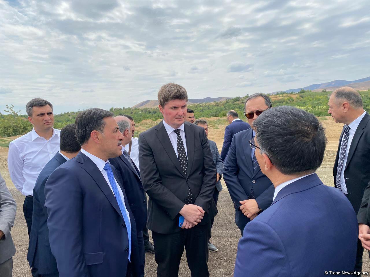 Представители Координационного штаба ознакомились с работами на Дороге Победы в Физули