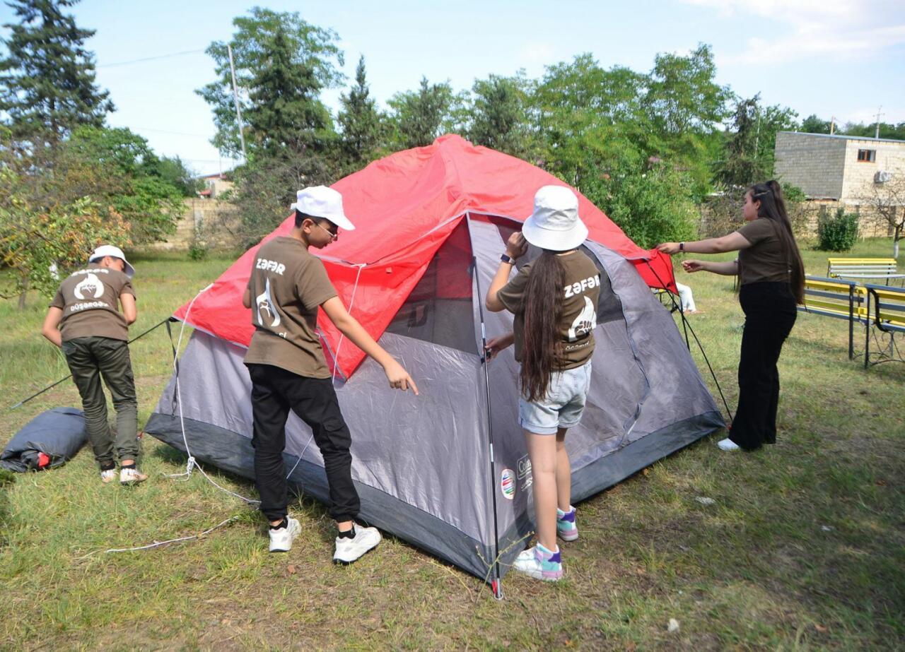 Лагерь Zəfər для детей шехидов Отечественной войны