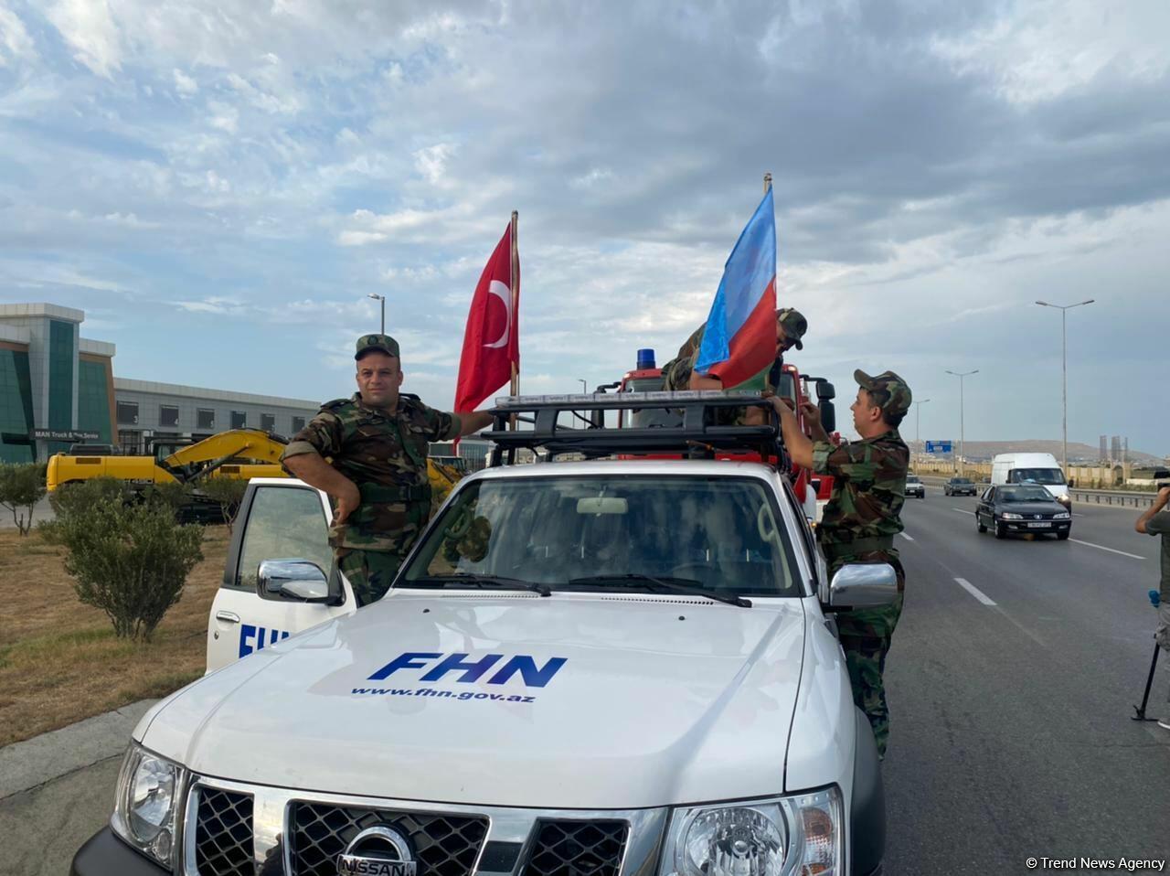 FHN-nin yanğın-xilasetmə qüvvələrinin növbəti qrupu Türkiyəyə yola düşür