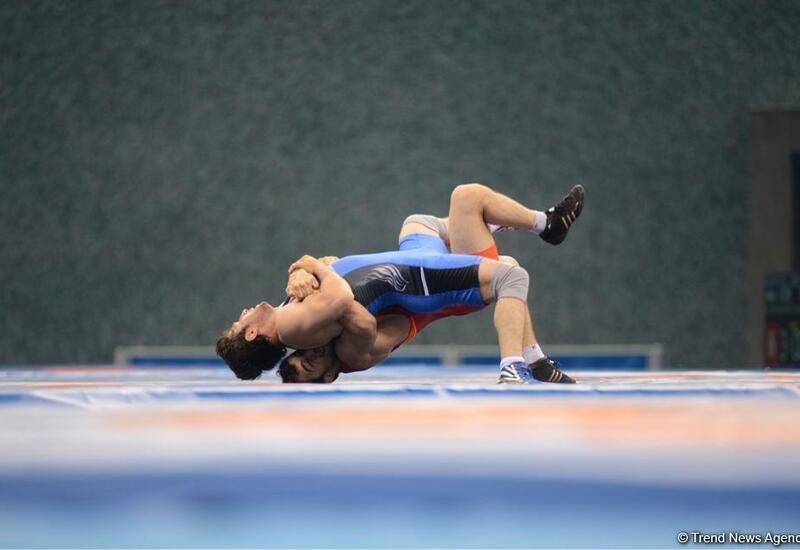 Азербайджанские спортсмены выступили на соревнованиях по борьбе Олимпиады в Токио