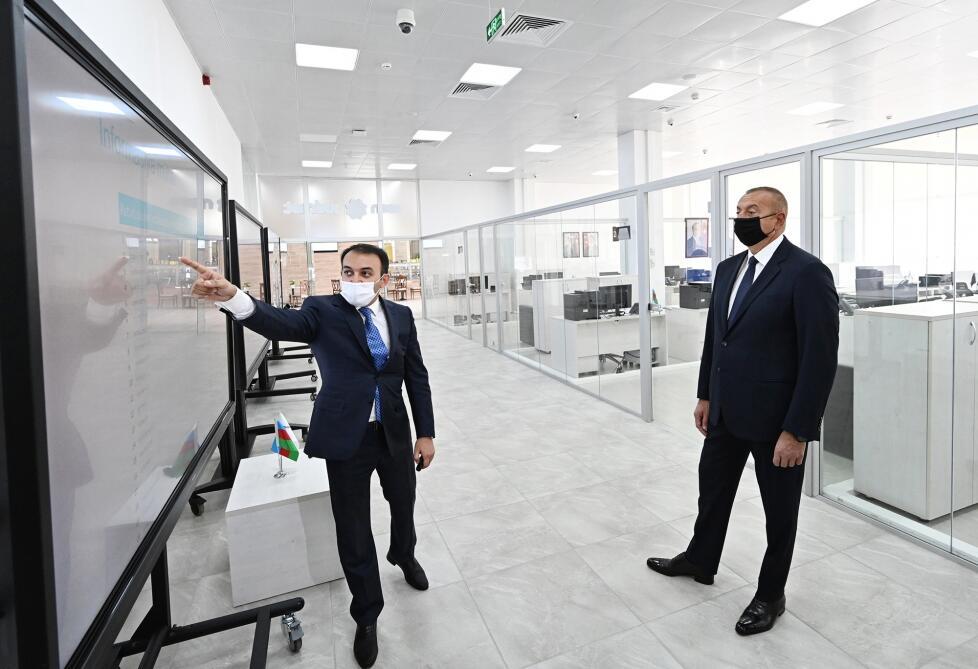 Президент Ильхам Алиев принял участие в открытии Центра ASAN xidmət №6 в Баку