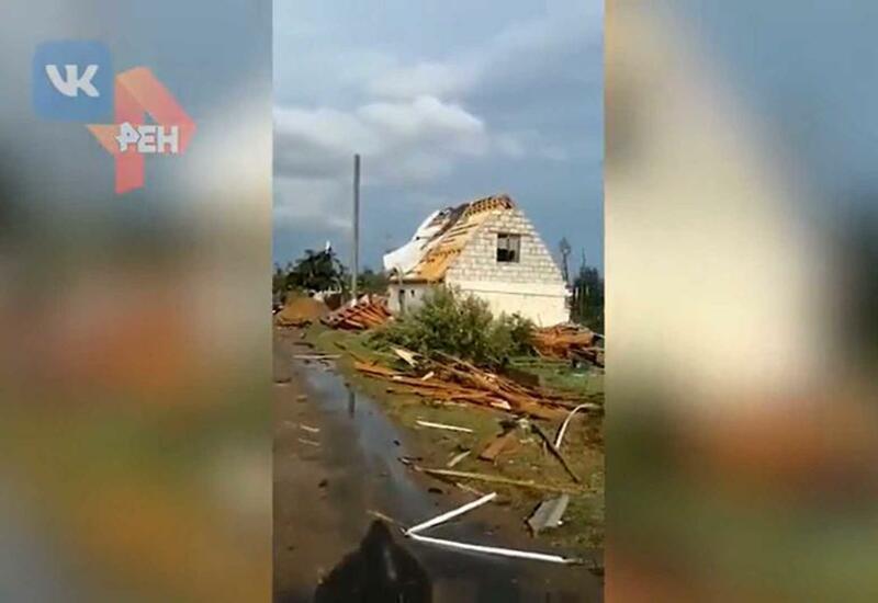 В России торнадо унесло мужчину вместе с домом