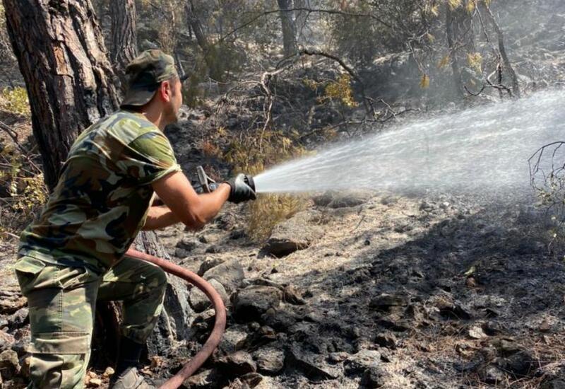 Очередной пожарно-спасательный отряд МЧС Азербайджана участвует в тушении пожаров в Турции