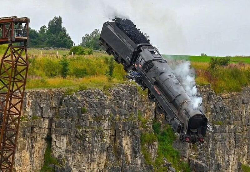 В Сети появилась сцена крушения поезда со съемок фильма «Миссия невыполнима-7»