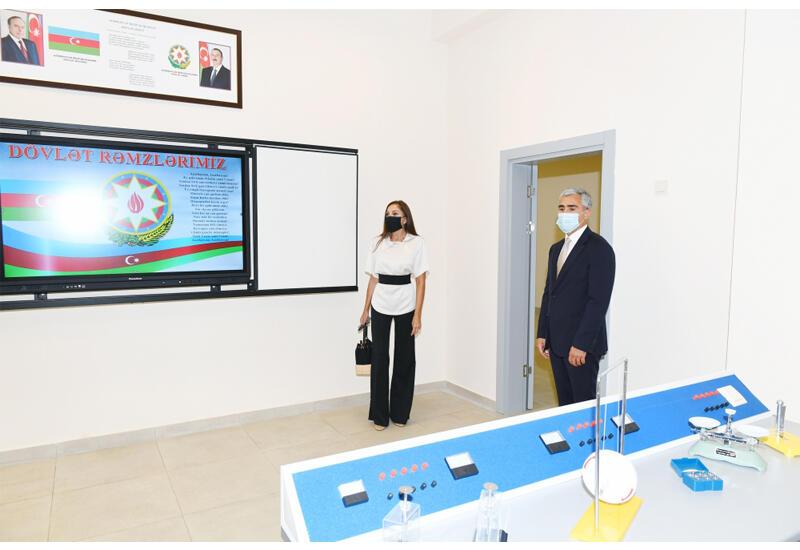 Первый вице-президент Мехрибан Алиева приняла участие в открытии после реконструкции образовательных учреждений в Хазарском районе Баку