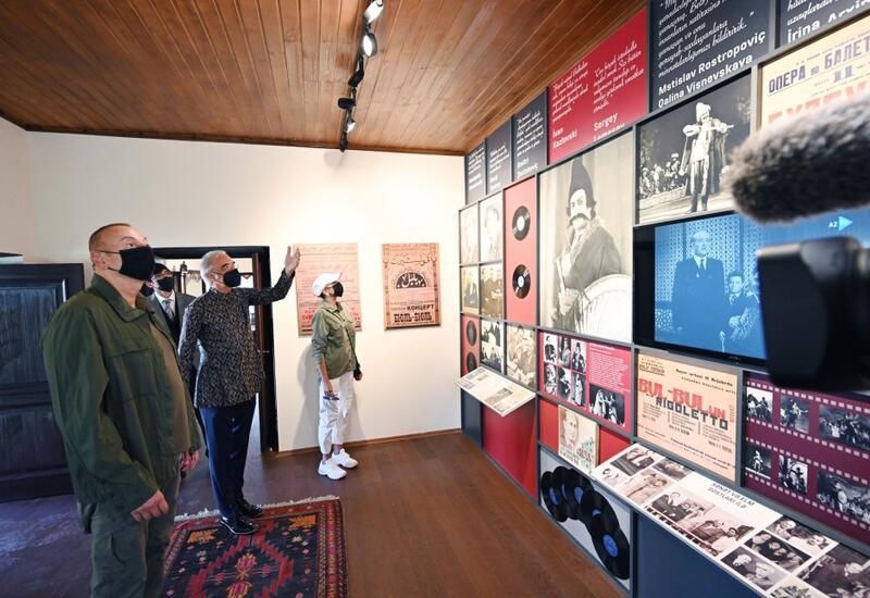 Президент Ильхам Алиев и Первая леди Мехрибан Алиева приняли участие в открытии после реставрации дома-музея Бюльбюля