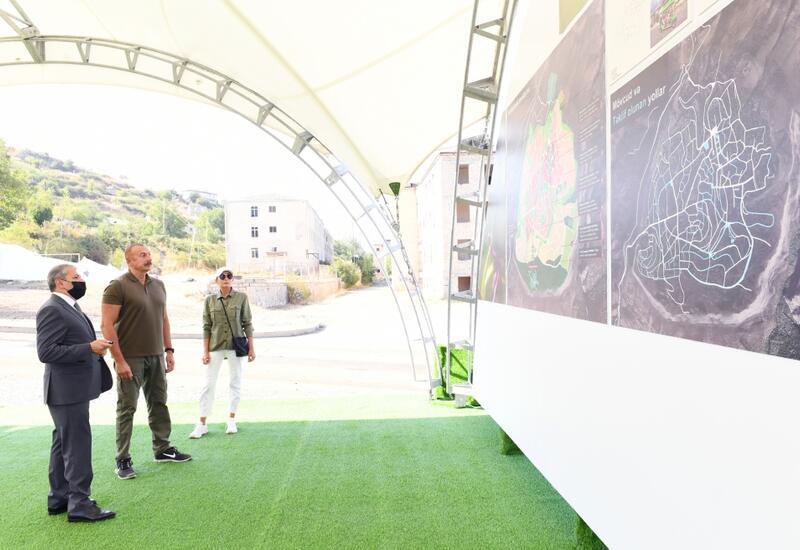 Президенту Ильхаму Алиеву и Первой леди Мехрибан Алиевой представлен генеральный план города Шуша