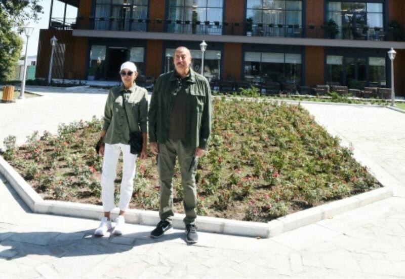 Президент Ильхам Алиев и Первая леди Мехрибан Алиева приняли участие в открытии отеля «Карабах» в Шуше