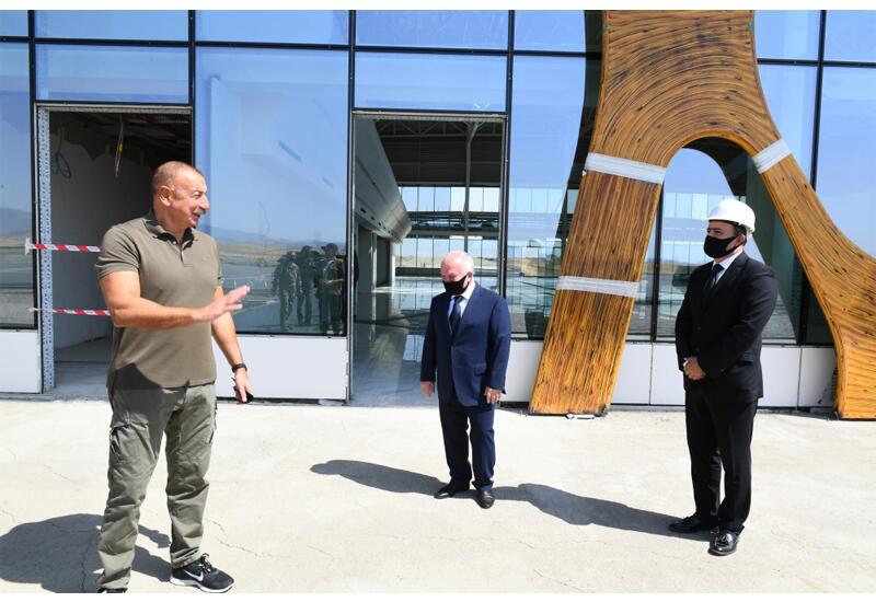 Президент Ильхам Алиев назвал аэропорт Физули воздушными воротами Карабаха