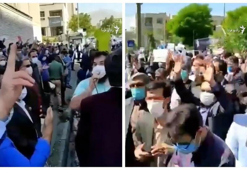В Тегеране группа учителей провела акцию протеста