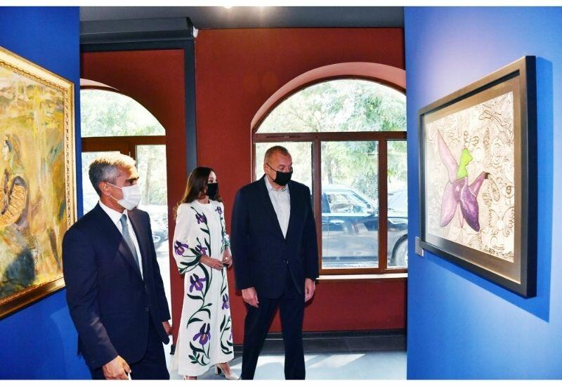 Президент Ильхам Алиев и Первая леди Мехрибан Алиева посмотрели выставки, организованные Фондом Гейдара Алиева в Шуше