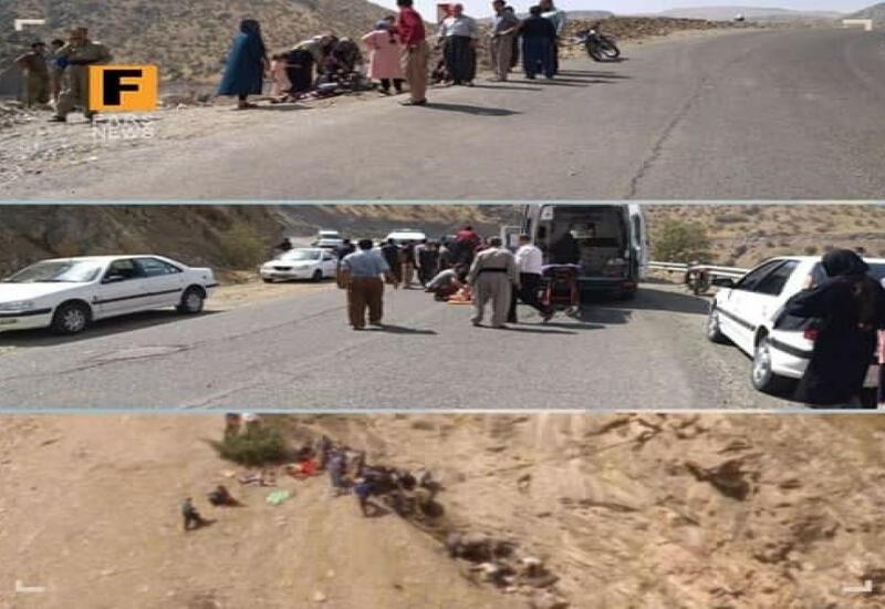 В Иране автобус упал в овраг,