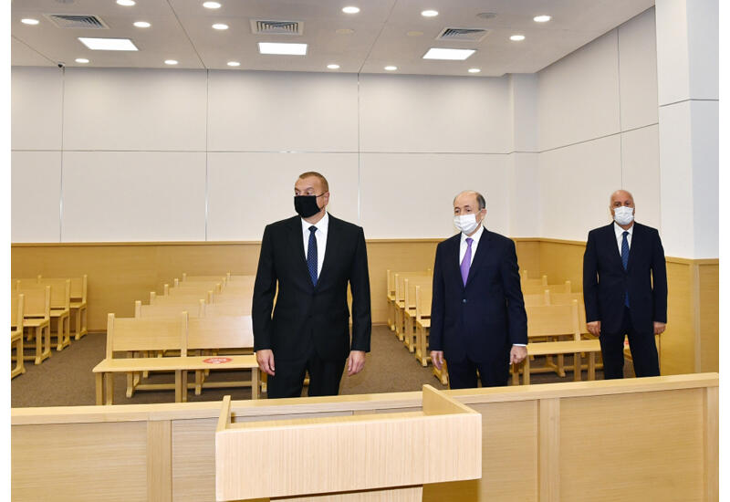 Президент Ильхам Алиев принял участие в открытии Сумгайытского судебного комплекса