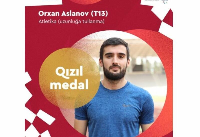 Токио-2020: Параатлет Орхан Асланов завоевал 14-ю золотую медаль для Азербайджана