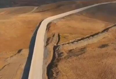 Турция показала готовый участок стены на границе с Ираном - ВИДЕО