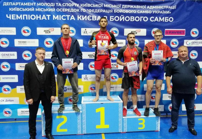 20-летний азербайджанец стал чемпионом Киева по боевому самбо
