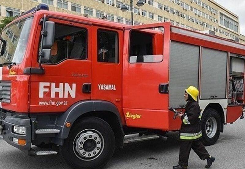 Пожар в жилом доме в Сумгайыте,