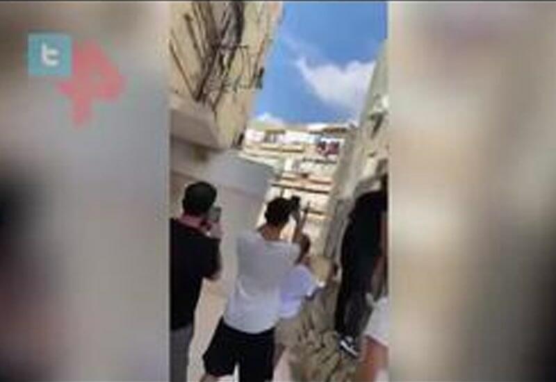 Очевидец снял момент обрушения жилого дома в Израиле