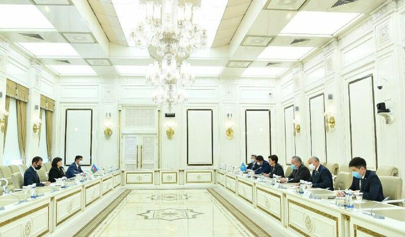 Сахиба Гафарова встретилась с делегацией парламента Казахстана