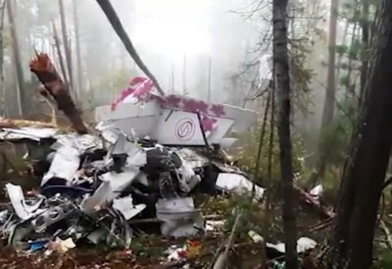 Следственный комитет опубликовал новые кадры с места крушения самолета в Иркутске