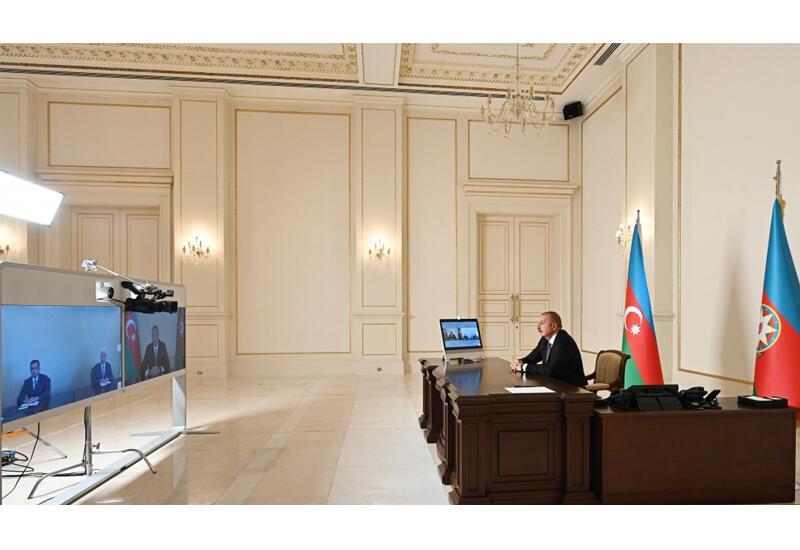 Президент Ильхам Алиев принял в видеоформате новоназначенных глав ИВ Шамкирского и Джалилабадского районов