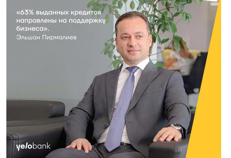 63% выданных Yelo Bank кредитов направлены на поддержку бизнеса
