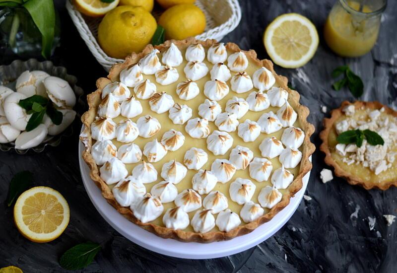 Рецепт тарта с лимонным курдом и швейцарской меренгой в блоге Или Мамедовой