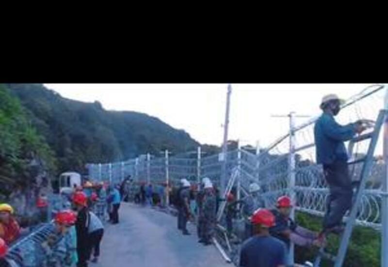 В Китае монтирую приграничный забор с Вьетнамом для сокращения количества мигрантов