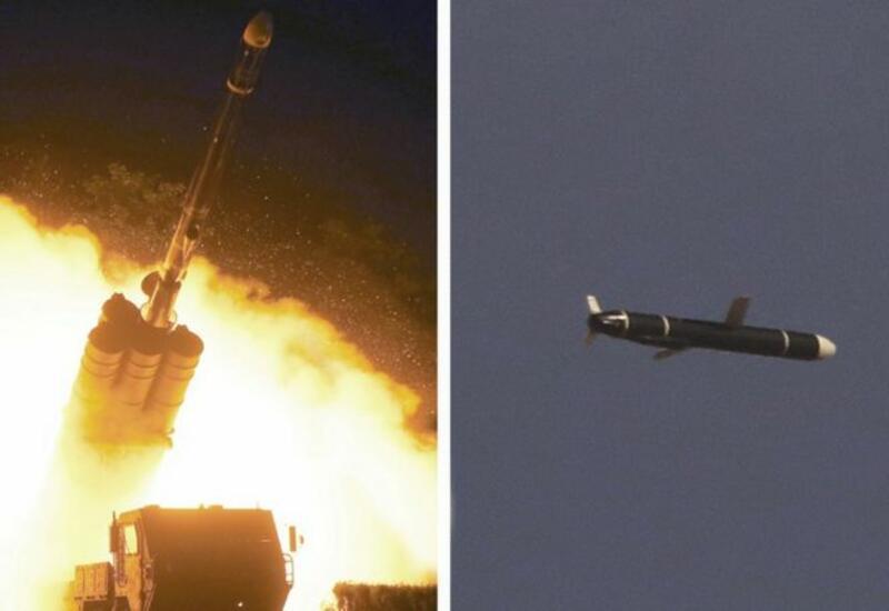 Кадры запуска баллистических ракет Северной и Южной Кореи