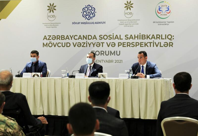 Azərbaycanda Sosial Sahibkarlıq Forumu keçirilib