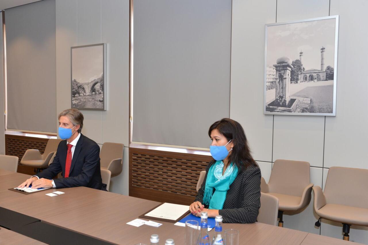 Джейхун Байрамов принял представителя ПР ООН в связи с завершением его дипмиссии