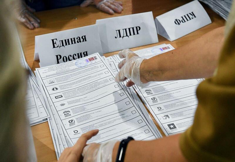 «Единая Россия» получает почти половину голосов избирателей