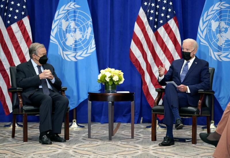 Байден и Гутерриш обсудили на встрече пандемию, климат и предотвращение конфликтов
