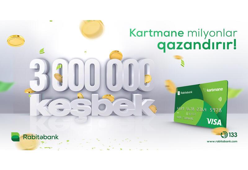 Bu kartın sahibləri 8 ayda 3 mln AZN-dən çox keşbek qazanıb (R)