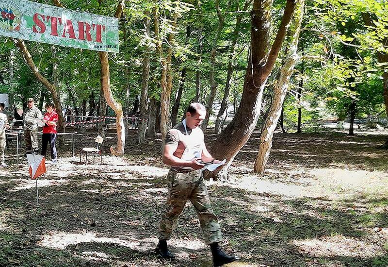 В азербайджанской армии проводятся состязания по ориентированию на местности